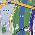 九一站步行到高尺巨蛋路線圖