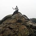 里龍山山頂巨石留影
