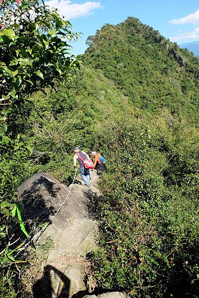 稜線上的攀岩