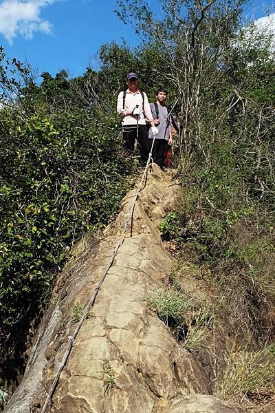 陡上攀岩稜線頂端