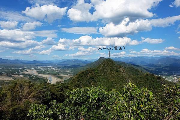 大金字面山眺望稜線