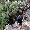 最後攀岩垂降路段