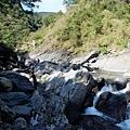 太古拉筏瀑布上方回看射鹿吊橋