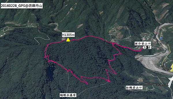 唐麻丹山O型GPS路線地圖