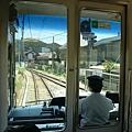 江之島電車司機後方