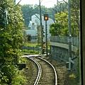 江之島電車過彎