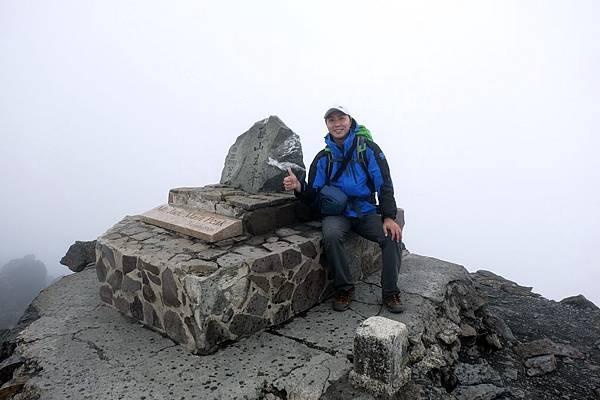 玉山主峰登頂留影