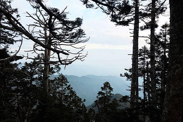 玉山西峰展望不佳
