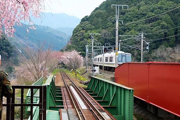 觀光鐵道與JR嵯峨野線並行