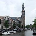 運河畔安妮之家和西教堂鐘樓