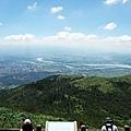 大屯主峰俯瞰大台北盆地