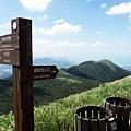 鞍部登山口指標