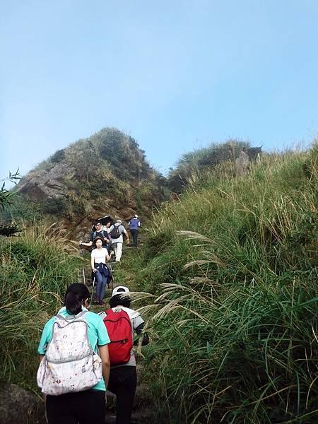 登上七星東峰的最後天梯路
