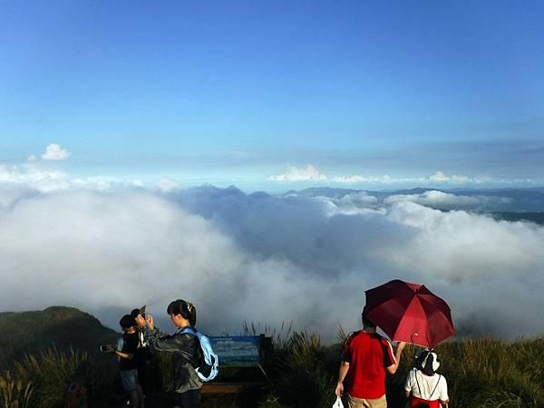 藍天下的雲海