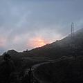 夕陽沉落山後