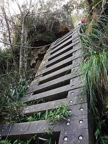 獅仔頭山第二段崖梯