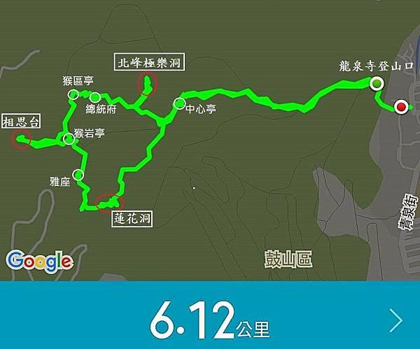 柴山探秘GPS記錄Map