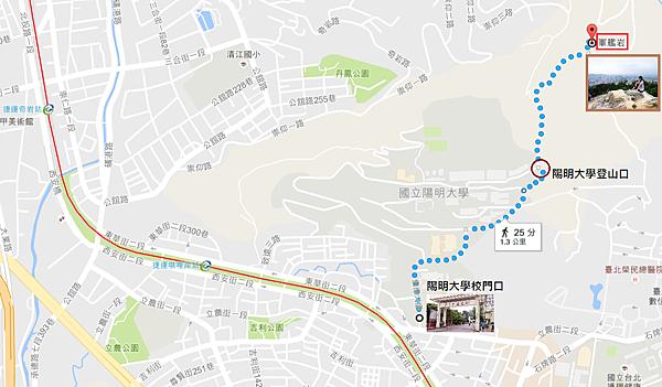 登軍艦岩郊遊Map