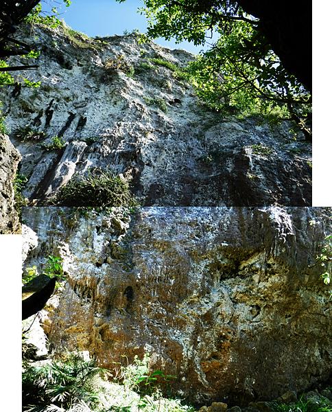 觀海崖大岩壁全景