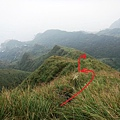 下切稜線山徑風景