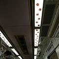 第六號車廂內為梅花圖案