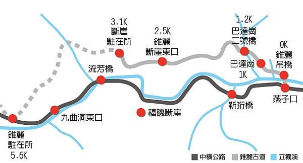 錐麓古道Map