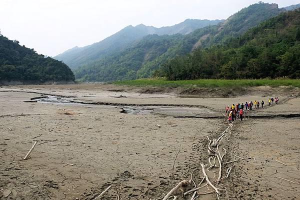 南化水庫枯水期風景