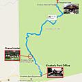 園區內前往沙巴神山登山口Map