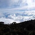 Laban Rata眺望山下雲海風景