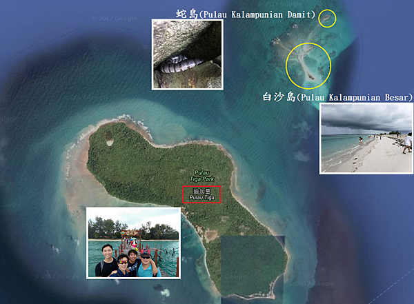 沙巴迪加島國家公園島嶼Map