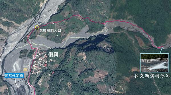 拉克斯溪游泳池GPS地圖