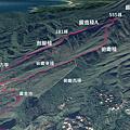 黃金稜線GPS劍龍稜鋸齒稜俯瞰稜8型走Map