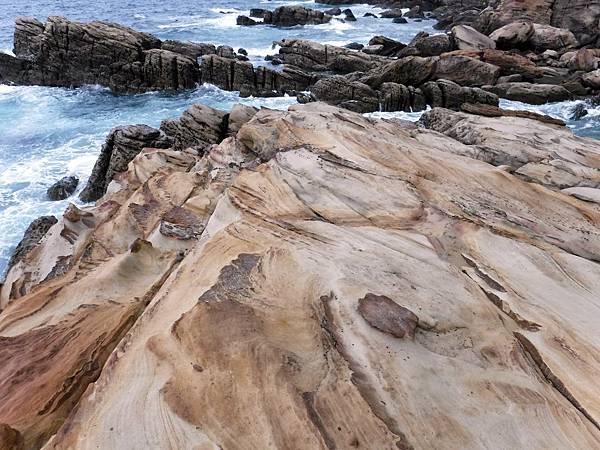 南雅海岸沙岩紋理