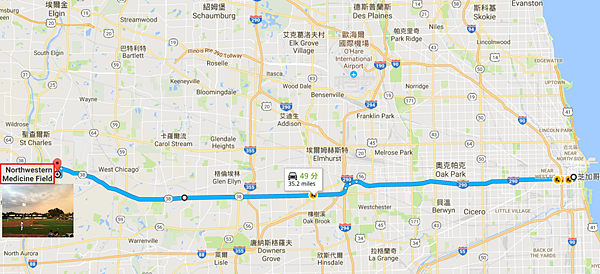Chicago-Kane County 旅行Map