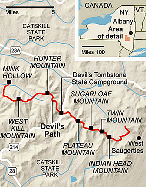 Devil's Path GPS Map