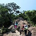 稜線攀爬路段一景