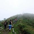 即將登頂基隆山