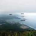 基隆山頂往西眺望北海岸風景
