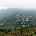 基隆山頂往南眺望金瓜石