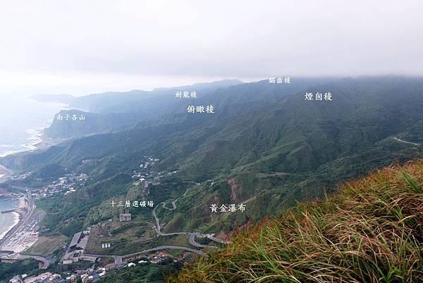 雷霆峰頂往東南眺望其他黃金稜線
