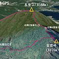 基隆山-雷霆峰GPS地圖