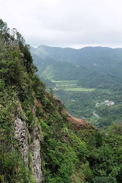 普陀山稜線步道陡峭