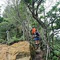 進入普陀山登頂石階路