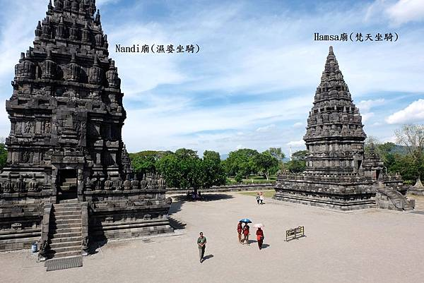 濕婆坐騎Nandi廟與梵天坐騎Hamsa廟