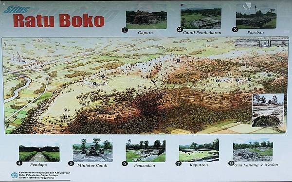Ratu Boko遺跡位置示意圖