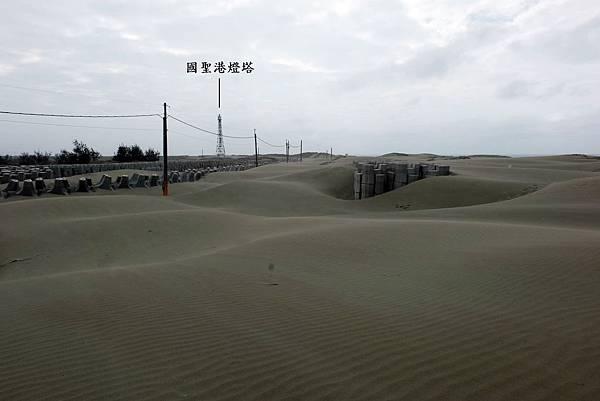 頂頭額沙洲往國聖港燈塔方向