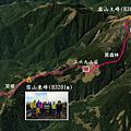 雪山主東線GPS地圖