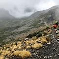 雪山一號圈谷登頂途中