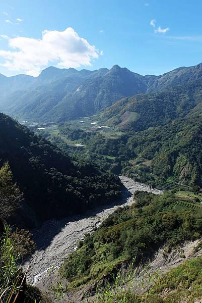 俯瞰沙里仙溪和陳有蘭溪匯流處