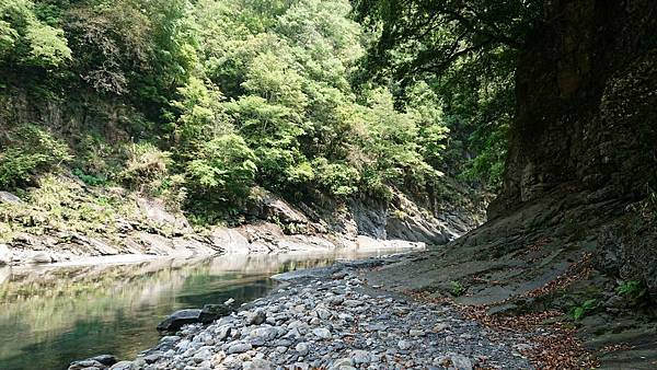 來到溪流轉彎處
